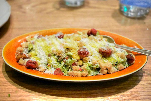 Brussels Sprout 'Caesar Salad'~Tomato Raisins~Sunflower Seeds~Parmesan Cheese