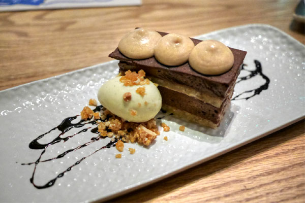 Chocolate Peanut 'Torte'~Chocolate & Peanut Butter Mousse~Chocolate Sable~Peanut Brittle