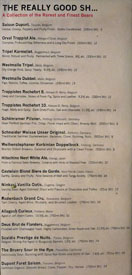 Father's Office Bottled Beer List