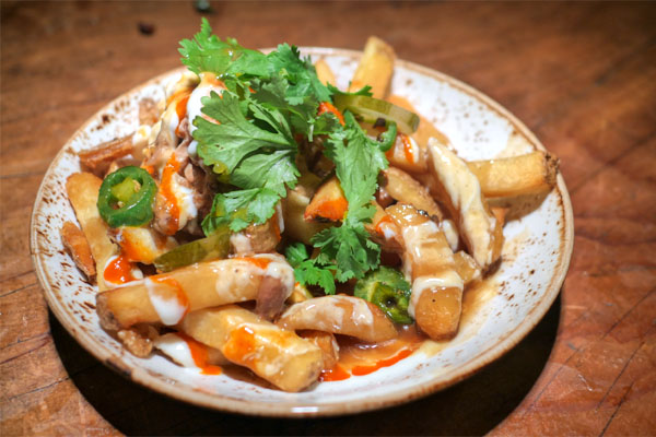 Bánh mi poutine, thrice-cooked fries, hoisin gravy