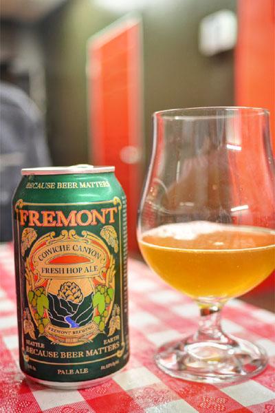 2014 Fremont Brewing Cowiche Canyon Organic Fresh Hop Ale