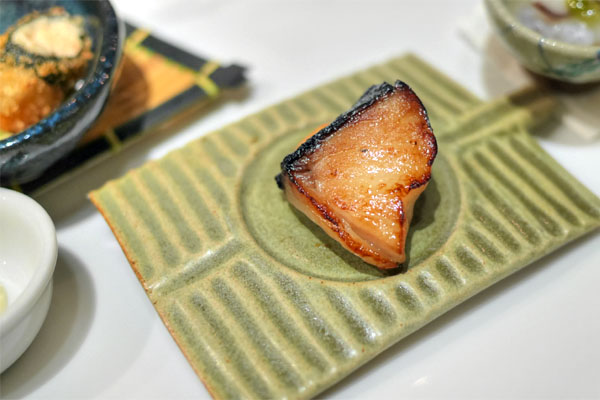 Zensai: Grilled Black Cod, Persimmon with Yuzu Miso