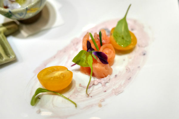 Zensai: Smoked Salmon with Blueberry Cream Cheese