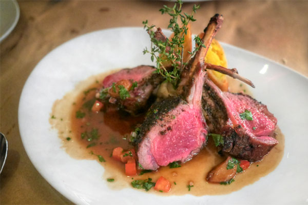 Pan Roasted Rack of Lamb