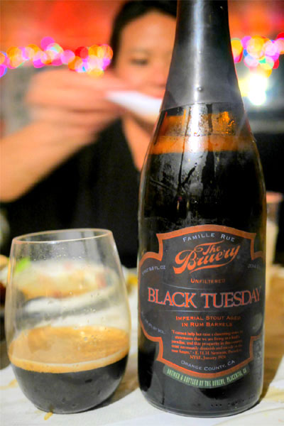 2014 The Bruery Rum Barrel Aged Black Tuesday