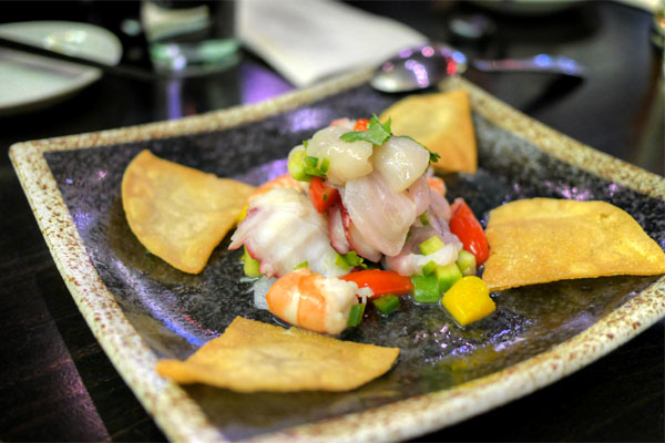 Kinjiro Ceviche (Octopus, Shrimp, Snapper, Scallops, Mango)