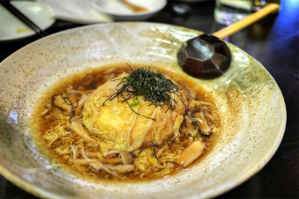 Kinjiro Agedashi Homemade Tofu, Mushroom Ankake Sauce