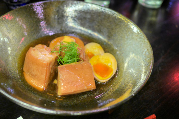 Niman Ranch Pork Belly Kakuni, Half-boiled Free-range Egg & Daikon
