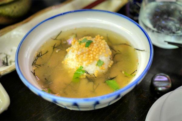 Wild snapper sashimi ochazuke