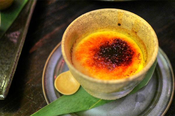 Sake Kasu (Lees) Crème Brulee