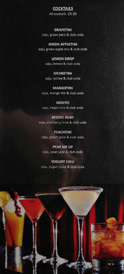 Genwa Drink List: Cocktails