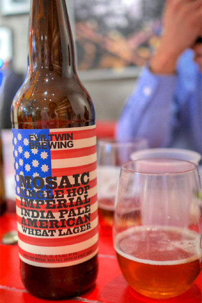 2014 Evil Twin Mosaic Single Hop Imperial India Pale American Wheat Lager