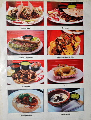 Mexicali Taco & Co Picture Menu