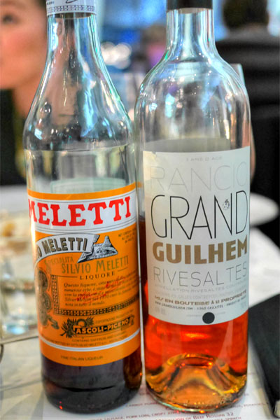 Amaro Meletti / Rivesaltes Rancio 2009, domaine grand guilhem