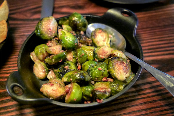 sweet & sour brussels sprouts, pecans