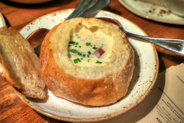 Salt Cod Clam Chowder