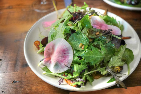 The farmer's dozen - 12 seasonal raw and roasted veggies, herbs, pepita 'butter' lime vinaigrette
