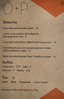 Odys + Penelope Dessert Menu