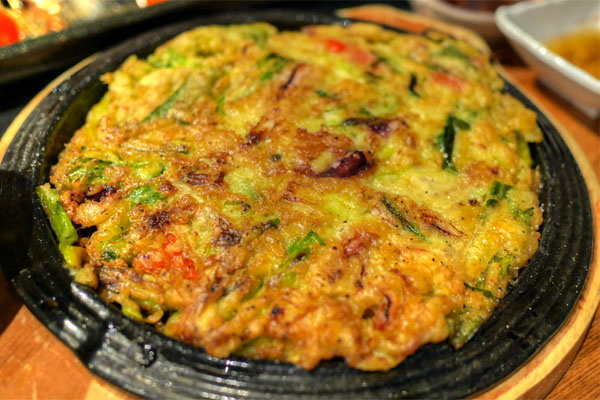 Seafood and Green Onion Pancake
