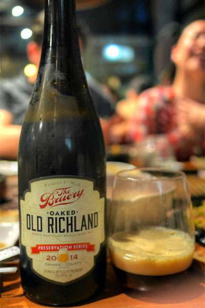 2014 The Bruery Preservation Series: Oaked Old Richland
