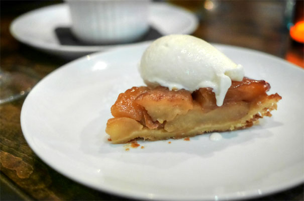 Tarte Tatin de Pomme, crème fraiche glacée