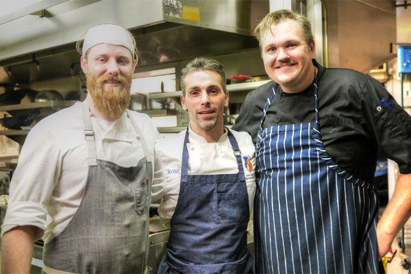 Sous Chef Chris Rosenberg, Executive Chef David Féau, Chef de Cuisine Ryan Kluver