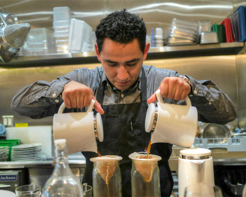 Alex Guzman's Double Fisted Coffee Pour
