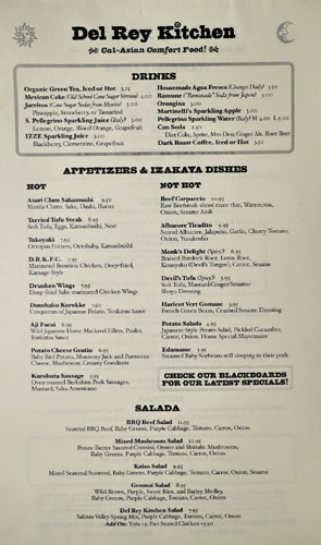 Del Rey Kitchen Menu