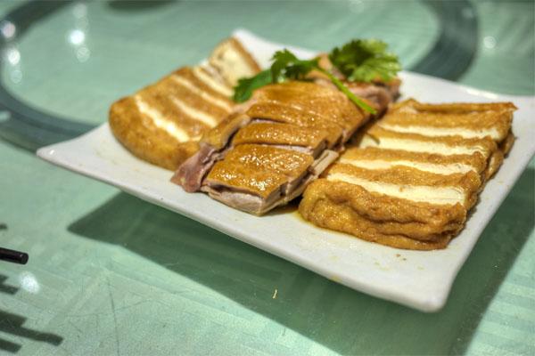 Roast Duck and Fried Tofu