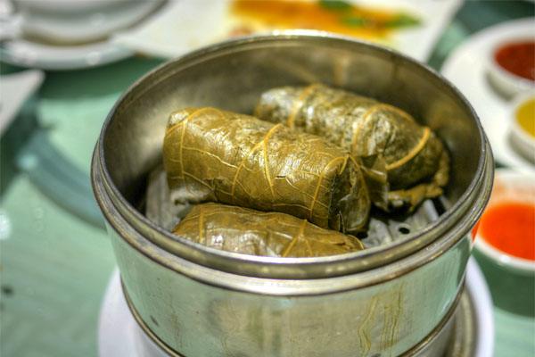 Sticky Rice Wrapped w/Lotus Leaf