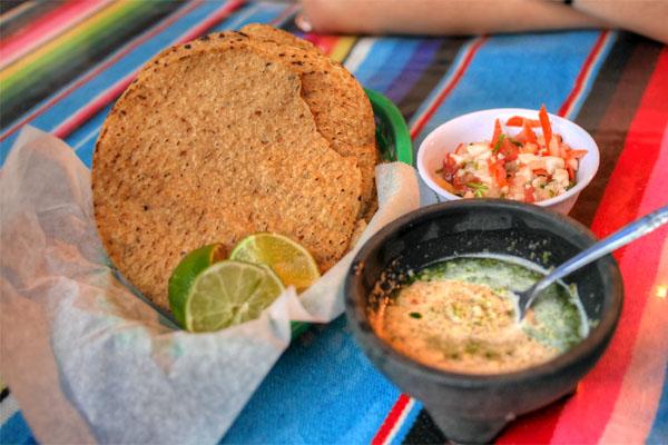 Chips & Salsa Verde/Ceviche