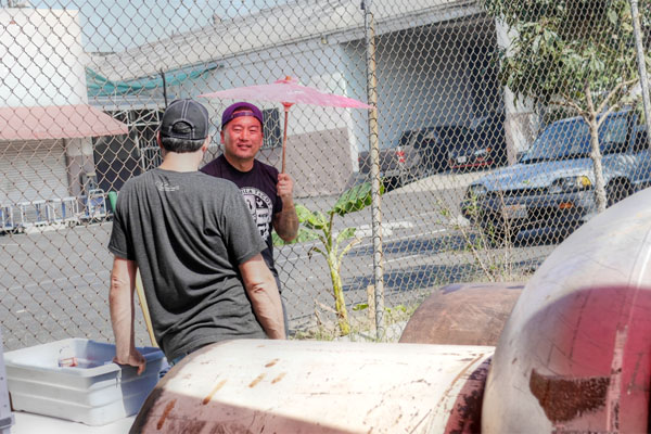 Roy Choi with Asian Parasol