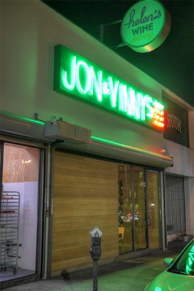 Jon & Vinny's Exterior