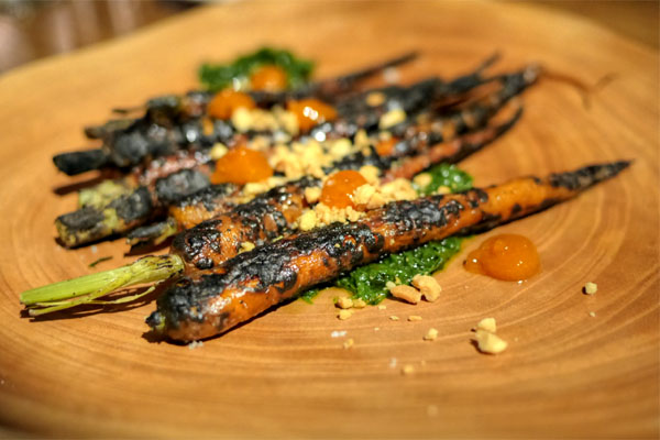 Almond Wood Grilled Carrots