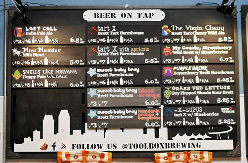 Toolbox Brewing Company Tap List