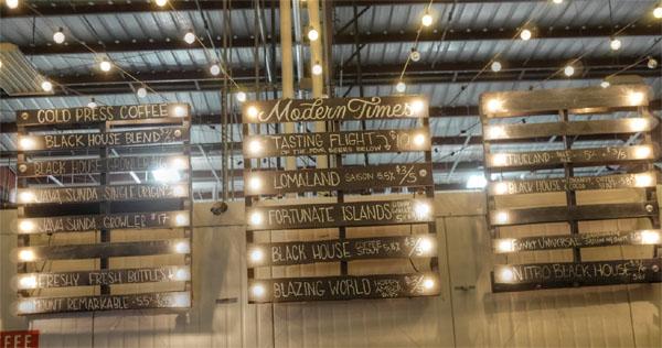 Modern Times Beer Tap List