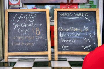 Carnitas' Snack Shack Guac & Dessert Menu