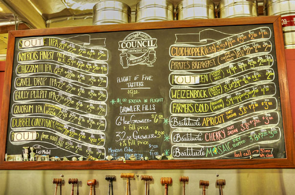 Council Brewing Company Tap List