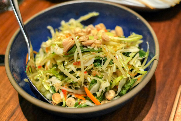 Green Papaya and Cabbage Slaw