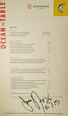 Catch & Release Menu