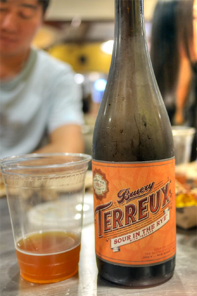 2015 Bruery Terreux Sour in the Rye with Peaches