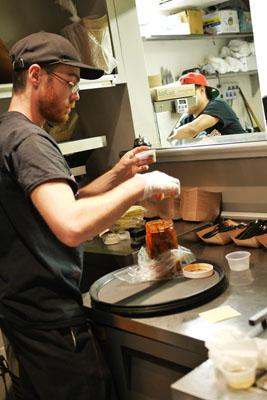 Sampling Homemade Kimchi
