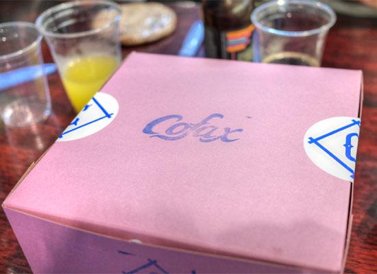 Cofax Coffee Donut Box
