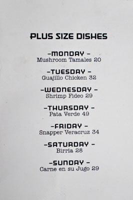 B.S. Taqueria Plus Size Dishes