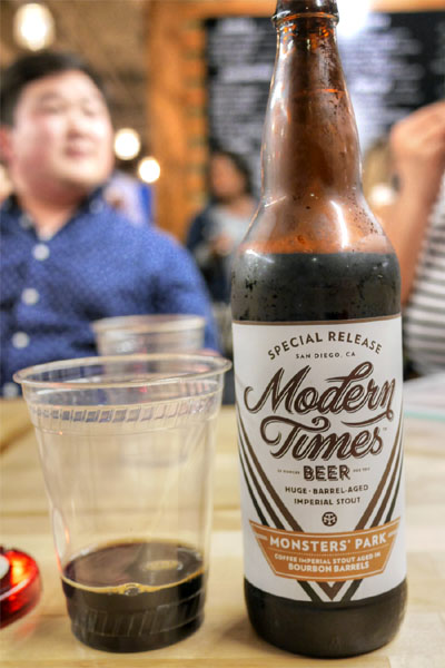 2015 Modern Times Monsters' Park aged in Bourbon Barrels with Coffee