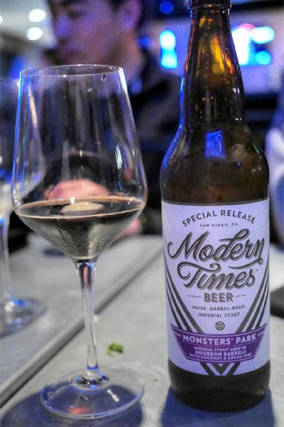 2015 Modern Times Bourbon Barrel Aged Monsters' Park with Coconut and Cacao Nibs