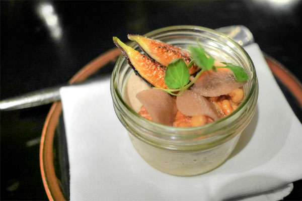 Charred Asian Pear Panna Cotta
