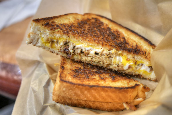 Chicken Adobo Grilled Cheese