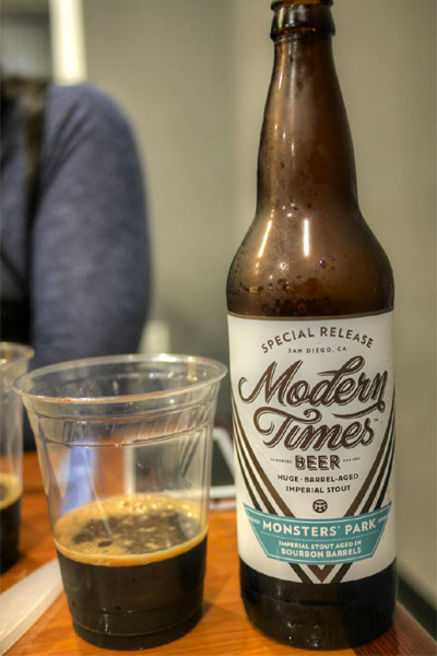 2015 Modern Times Monsters' Park Aged in Bourbon Barrels