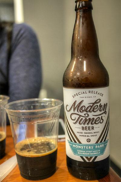 2015 Modern Times Monsters' Park Aged in Bourbon Barrels